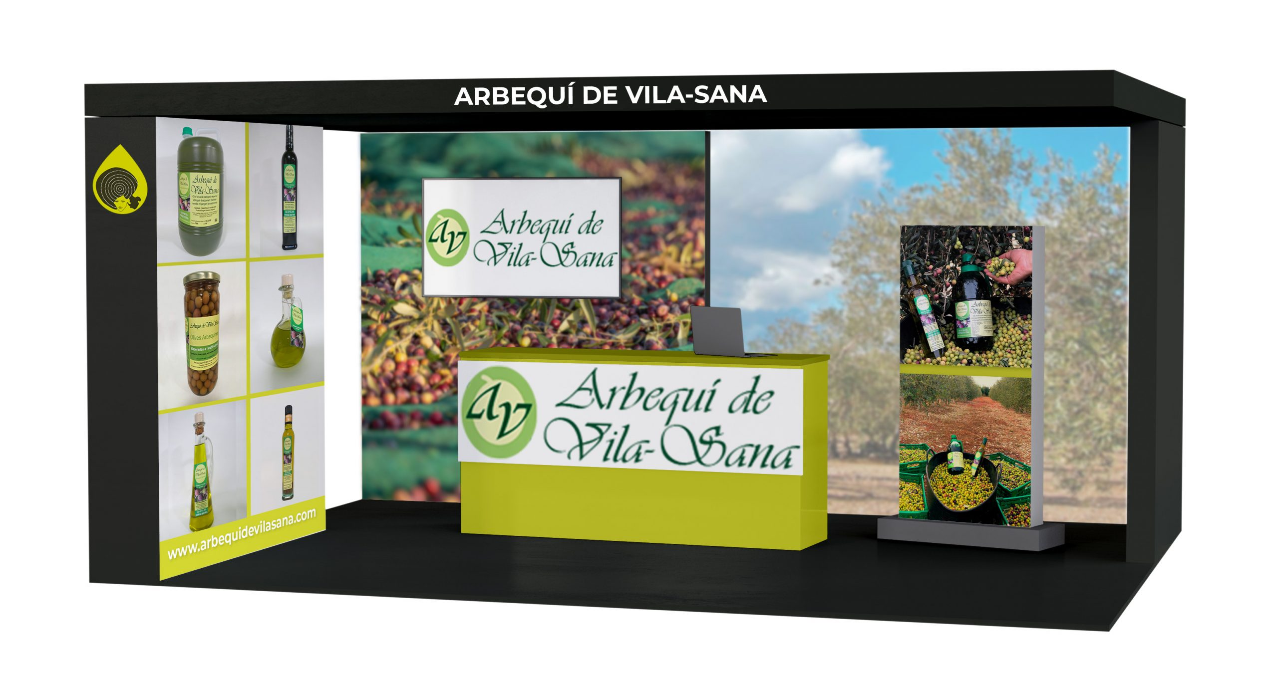 Estand Arbequí de Vila Sana Fira Oli 2021